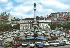"""Praça D. Pedro IV, """"Rossio"""", Lisboa, Portugal (Anos 60)"""