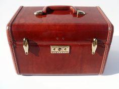 Vintage Brown Samsonite Train Case STYLE 4912