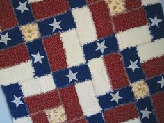 Flag Rag Quilt - via @Craftsy Maybe with no star, and regular quilt instead of rag