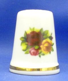A Royal Albert 'OLD Country Roses' Thimble | eBay