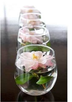 Bridal Shower: Centerpieces can add tealights as well