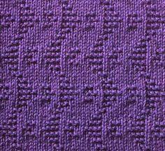 Zig Zag Waves - knit/purl stitch  #knit
