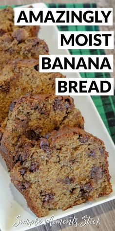 The ultimate moist banana bread recipe. Seriously the only banana bread recipe you're going to need from here on out! The ultimate moist banana bread recipe. Seriously the only banana bread recipe you're going to need from here on out! Banana Bread Easy Moist, Healthy Banana Bread, Chocolate Chip Banana Bread, Chocolate Chip Recipes, Banana Bread Recipes, Chocolate Chips, Banana Bread Recipe With Two Bananas, Best Banana Cake Recipe Moist, Carrot Bread Recipe Moist