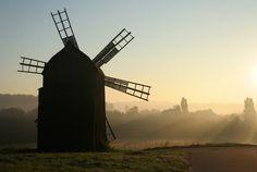 Ukrajina, Kyjev, Pirogovo, muzeum, mlýn, větrný mlýn, pole