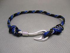Bracelet réglable paracorde Hameçon. : Bracelet par les-mille-et-une-perle-de-sophie-r