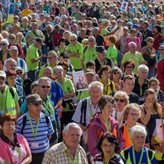 Thousands participate in the 26th Thuringia Hiking Day in Zeulenroda-Triebes, Germany