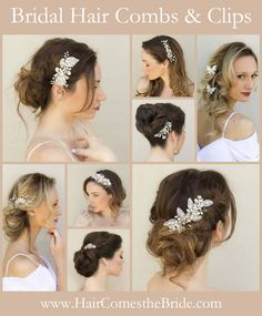 Shop a large selection of reasonably priced, designer quality bridal hair combs and clips from Hair Comes the Bride.