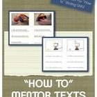 "This is a set of mentor texts to be used when teaching a ""how to"" books writing unit.  It is difficult to find mentor texts in the library that rea..."
