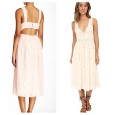 FREE PEOPLE Midi NWT NWT AND SOLD OUT EVERYWHERE  Ivory Combo  Retail $148 Free People Dresses Midi