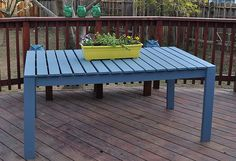 Colorful Outside Picnic Table