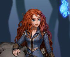 ArtStation - Merida :), Kim Sunhong Redhead Cartoon Characters, Cartoon Icons, Female Characters, Cartoon Art, Disney Dream, Cute Disney, Disney Art, Disney Magic, Brave Disney
