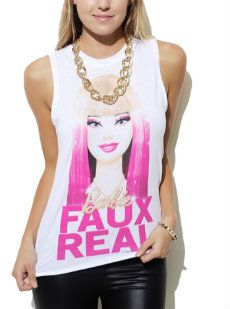 Faux Real Barbie Tank - hmm.. think my Halloween costume might be coming together...
