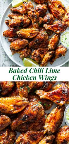 These sweet and spicy chili lime chicken wings are packed with flavor and perfect for parties, appetizers or a fun dinner! These crispy baked chicken wings are paleo with a option to sweeten the sauce, family friendly and a total crowd pleaser. Clean Eating Dinner, Clean Eating Recipes, Healthy Dinner Recipes, Lime Recipes Dinner, Lunch Recipes, Paleo Appetizers, Appetizers For Party, Appetizers Superbowl, Paleo Chicken Recipes
