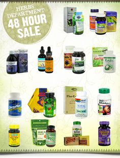 Save an extra 10% off our entire ‪#‎herbs‬ department today! Limited-time only! http://www.luckyvitamin.com/t-herbs-dept-sale-10