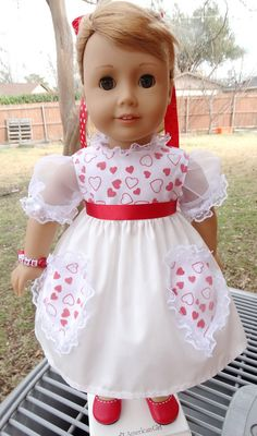 1950's Style Valentines Day Dress by Designed4Dolls $19.95