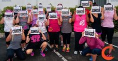 @blankcancer - here's my amazing crew showing their support of #breast #cancer #awareness month. This is from the @coachkimmie Friday night #HIITshit #workout for @pinklotusbreastcenter #PinkLotusFoundation in southern #california! We put the #blankcancer signs over our faces because #cancer sees no one & affects everyone. #FckUCancer