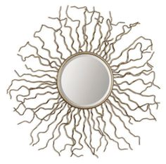 HAND FORGED SUN MIRROR IN ANTIQUED :: MIRRORS :: ACCESSORIES :: Union