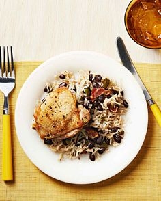 Smooth and Tantalizing Cuban Spiced Chicken with Rice & Beans One Dish Meal!