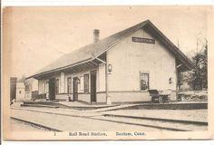 BANTAM, CT - Railroad Staton from the tracks, right corner view