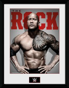 WWE - The Rock - Photo - Big Framed Collector Print