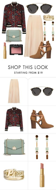 """""""Blind dates require pizza."""" by dawnzi ❤ liked on Polyvore featuring Alice + Olivia, Christian Dior, Étoile Isabel Marant, H London, Jennifer Lopez, Henri Bendel, Too Faced Cosmetics and NARS Cosmetics"""