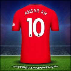 Make personalized Manchester United jersey. Customize jersey Manchester United with your name and number. Create jersey with the font Manchester United Adidas Football, Nike Soccer, Football Jerseys, Camisa Del Manchester United, Cristiano Ronaldo Goals, Reebok, Under Armour Football, Shirt Store, Suit Fashion