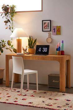 Desk Inspo, Desk Inspiration, Fold Out Desk, Urban Outfitters Home, Urban Outfitters Furniture, Simple Desk, Adjustable Desk, Sofa Shop, Home Desk