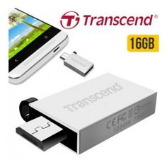 $8.99 (Normally $24.99) Transcend JetFlash 380 Flash Drive 16GB + Dual USB @ Off The Back - Bargain Bro