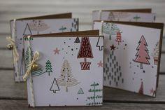Christmas Mini Notecards,Holiday Mini Notecards, Christmas Tree Mini Notecard Set by 19Designs on Etsy
