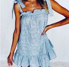 Vsco Outfits Chic Summer Outfits to Fall Outfits To Update Your Wardrobe / 42 Cute Blue Dresses, Casual Dresses, Cute Fashion, Fashion Outfits, Womens Fashion, Fashion Clothes, Trendy Outfits, Spring Summer Fashion, Spring Outfits