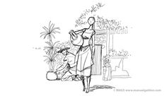 """Ilustraciones de Manuel Galdón para cuento """"La Cueva del Tío Jesús"""""""