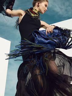 Sasha Luss by Nathaniel Goldberg for Vogue China