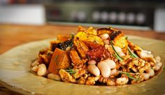 Sweet Roast Pumpkin with Walnuts and Cannelini Beans | Good Chef Bad Chef
