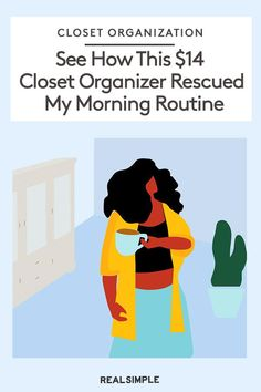 This $14 Closet Organizer Rescued My Morning Routine | Click here to read how one editor transformed her morning routine and saved time getting ready with this hanging closet organizer. Plus, why this closet organizer is an Amazon must-have product. #declutter #organizationtips #realsimple #declutterideas #howtoclean #homeorganization Hanging Closet Organizer, Closet Organization, Sunrise Alarm Clock, Cubby Hole, Folding Laundry, Real Simple, Downlights, Declutter, Storage Solutions