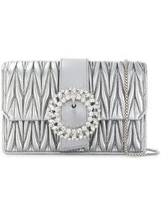 Miu Miu Borsa a Spalla My Miu - Farfetch Miu Miu Handbags, Miuccia Prada, Shoulder Strap, Crossbody Bag, Luxury Fashion, Chain, Silver, Satchels, Women's Bags