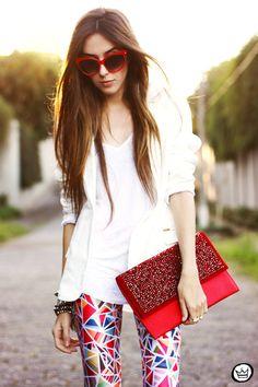 Look Du Jour: Tiles ( Sunglasses & Blazers )