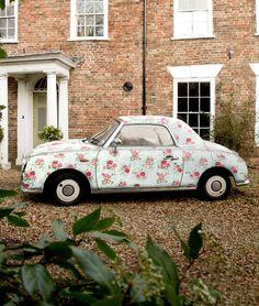 28 Trendy Ideas for vintage cars decor shabby chic Volkswagen, Nissan Figaro, Pillos, Vw Vintage, Flower Vintage, Vintage Floral, Vintage Travel, Modern Country Style, Estilo Shabby Chic