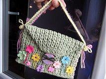 Detské tašky - detská zelená taštička - 4044198_
