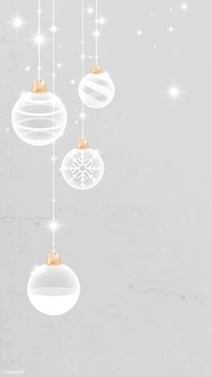 Download premium vector of White Christmas bauble patterned on gray mobile