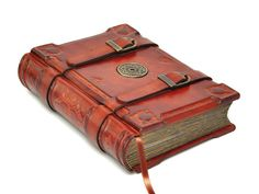Handmade brown leather journal  Medieval style 6x8 inch by dragosh, $170.00