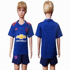 2016-2017 Manchester United club blue kid soccer jersey away