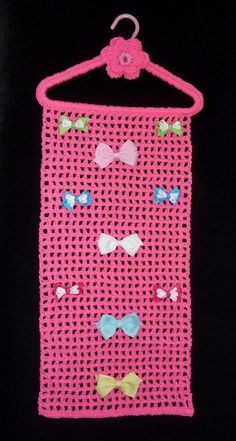 I really need to try to make some of these.  Hair Bow Holder HOT PINK Closet Organizer by CraftCreationsEtsy