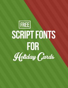 Want to make your own holiday card this year? Check out some of our favorite free holiday script fonts that can be easily downloaded and used in Photoshop!