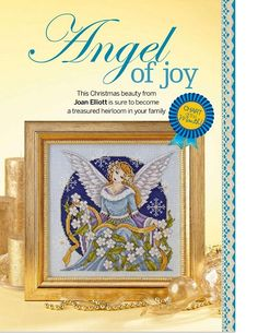 Joan Elliott designed this stunning Xmas Angel for our Christmas 229 issue! Cross Stitch Fairy, Cross Stitch Angels, Cross Stitch Love, Cross Stitch Pictures, Cross Stitch Charts, Cross Stitch Designs, Cross Stitch Patterns, Filet Crochet Charts, Cross Stitch Collection