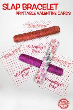 Slap Bracelet Printable Valentine Cards