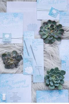 Ice Blue Wedding Inspirations from Barbara Wenz and Hermann Henzl