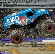 The Mad Scientist Monster Mud, Monster Truck Party, Love Monster, Monster Trucks, Digger, Bigfoot, Car Stuff, Trains, Monsters