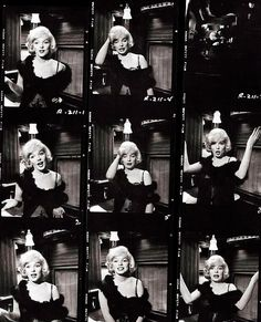 Some Like It Hot (1959) Directed by Billy Wilder — Marilyn Monroe contact sheets, via http://oldhollywood.tumblr.com/
