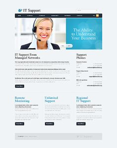 IT Support Website Templates by Hugo | IT Support Website ...