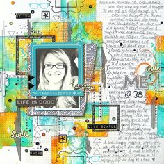 My Scraps and More DT Project - Got Talent Challenge #2 (Mixed Media Background) Echo Park Capture Life, Tim Holtz Distress Inks